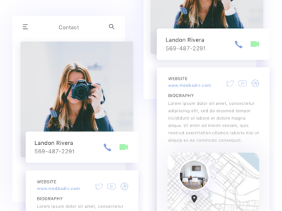 Profile Page Interface for iOS concept shadows flat web ios typography colors ux ui