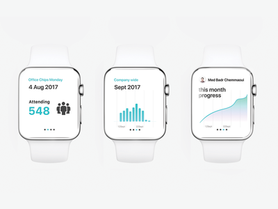 Porpoise Stats - WatchOS prototype product typography interface colours ux ui ios watchos