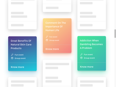 Low fidelity UI mockup - Porpoise feed ios design flat app colours interface web ux ui