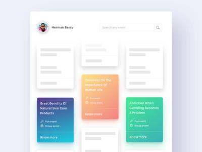 Search page Web UI ios design flat app colours interface web ux ui