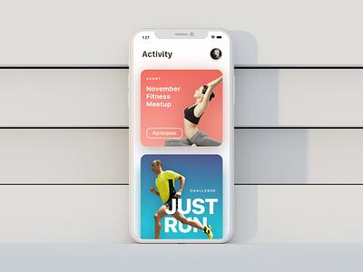 Porpoise Activity Feed - iOS ios typography type design app ux ui