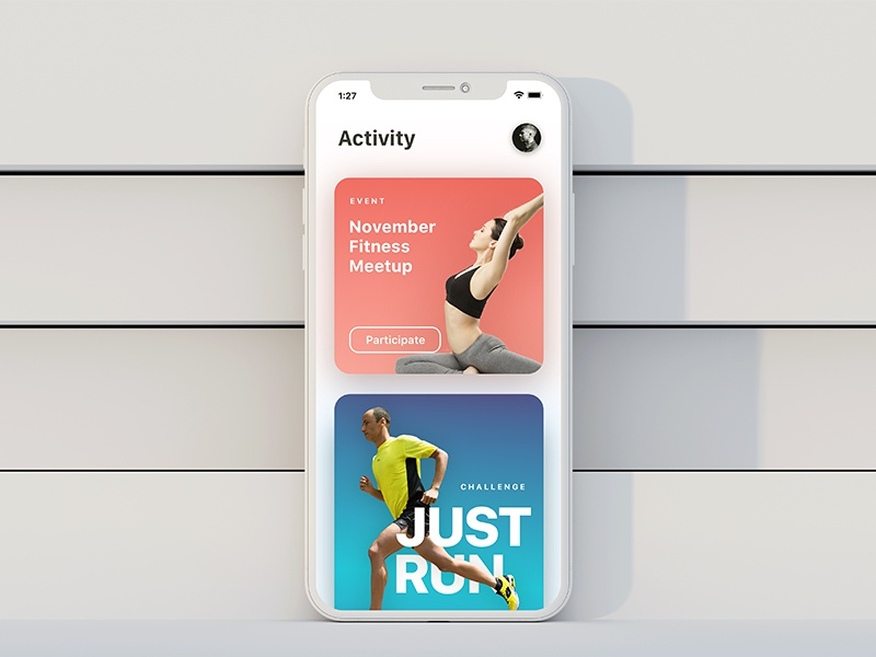 Activity Page UI ios typography type design app ux ui