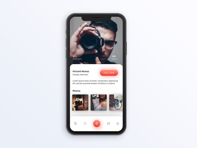 Unsplash Profile Page iOS design typography graphic interface colours ios ux ui
