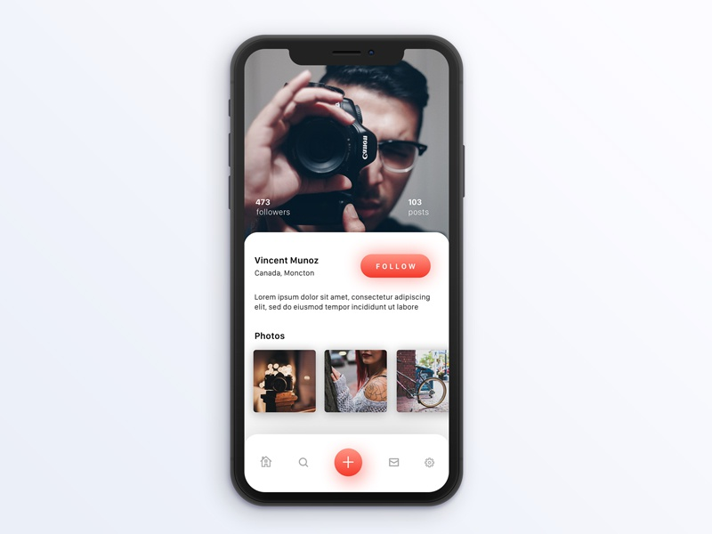 Unsplash Profile Page iOS concept design typography graphic interface colours ios ux ui