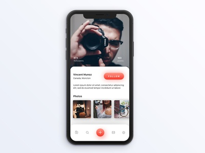 Unsplash Profile Page iOS concept