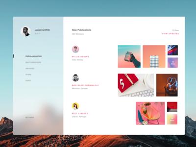 Interface Design Exploration design app ios tablet interface colors web ux ui