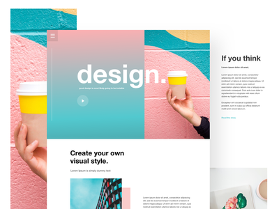 Interface Design 3 - Web page ux ui web tablet interactions ios interface colors app
