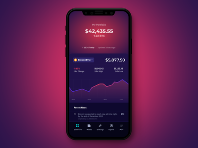 Crypto Wallet iOS Interface Design ux ui colors interactions interface app ios