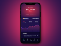 Crypto Wallet iOS Interface Design
