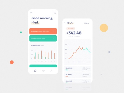 Stocks wallet app