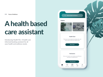 UX/UI Case Study: Mobile Health and Wellness App DesignConcept