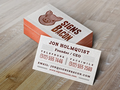 Bacon Business Card