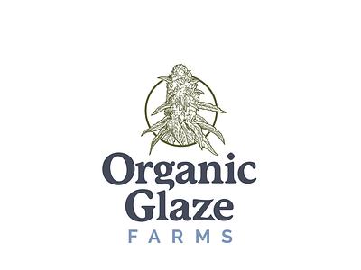 Organic Glaze Farms Logo Design/Brand Development cannabis logo cannabis packaging cannabis branding cannabis design custom typeface marijuana logo branding logo cannabis