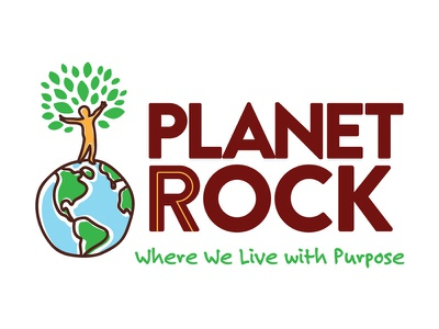 Planet Rock counseling child oklahoma red rock planet rock identity branding logo