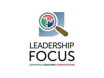 Leadership Focus coaching logo magnifying glass leadership ministry