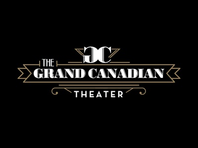 The Grand Canadian Theater logo design art deco theater