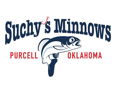 Suchys Minnows illustration bait store logo
