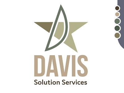 Davis Solution Services brand agency military identity design oklahoma vector typography logo illustration logo branding