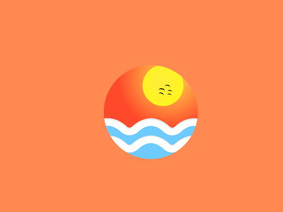 Sunwaves ☀️🏖️ vector illustration branding icon art illustrator logo design