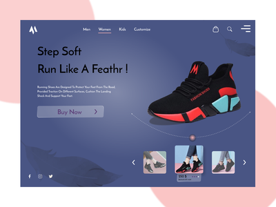 the shoe website concept design branding icon app website web illustrator illustration ux ui design
