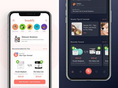 Brandefy Remix Blog homepage brandefy beauty app design redesign concept mobile ui mobile design mobile app design mobile app makeup ui beauty app visual design ui design