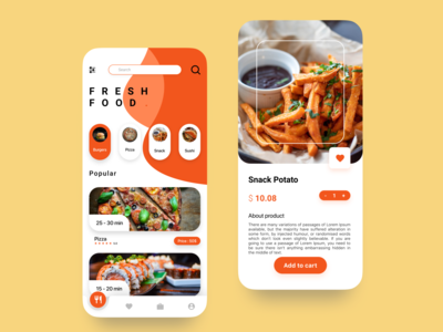 Home screen & Detail Product design app ux ui