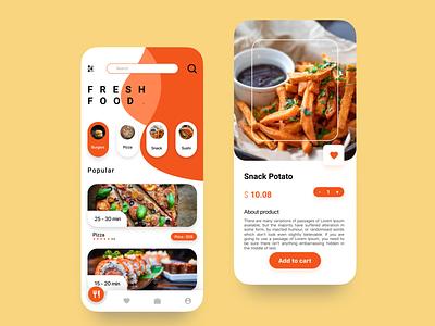 Home screen & Detail Product design app ux ui