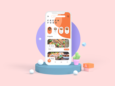 Mockup Food App design ui ux app