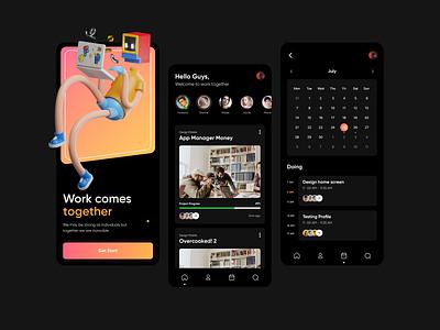 Task Manager - Dark Mode app design ux ui