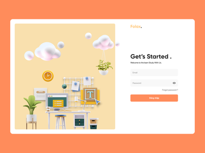 Learn From Home - 3D 3d web design ux ui