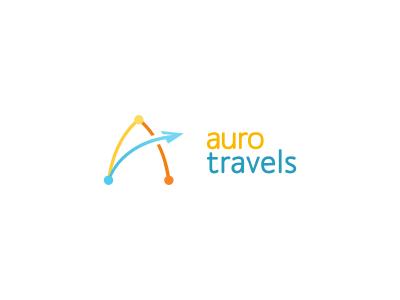 Auro Travels auro travels lines travel a logo