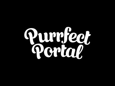 Purrfect Portal logotype purrfect portal portal cat door cats cat typography logotype logo design logo