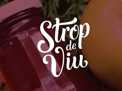 Strop de viu cold pressed fruits vegetables natural juice strop de viu logo design logo