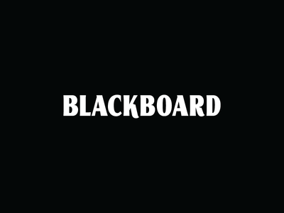 Blackboard branding branding agency blackboard logo design logo