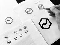 Magently logomark design process