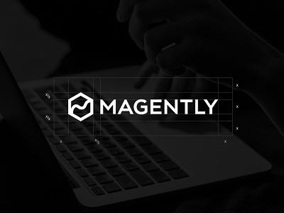 Magently grid and safespace grid magently branding branding agency blackboard logo design logo