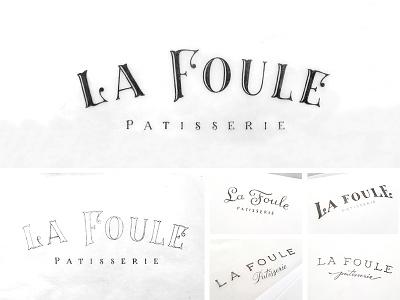 La Foule Patisserie sketches tuscan french la foule bakery sketch patisserie branding branding agency blackboard logo design logo