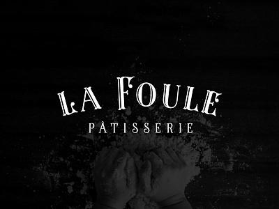 La Foule Logotype tuscan french la foule bakery sketch patisserie branding branding agency blackboard logo design logo