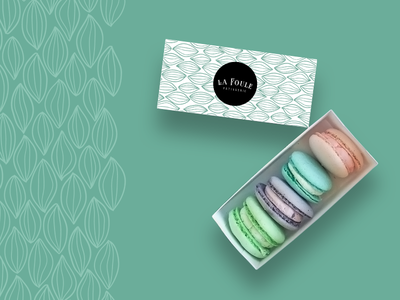 La Foule Packaging Direction brand identity branding brand sweet pattern macarons french bakery patisserie packaging logo