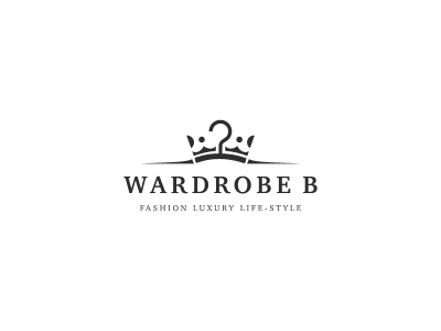 Wardrobe B logo symbol crown wardrobe shop fashion luxury wardrobe b fashion store boutique