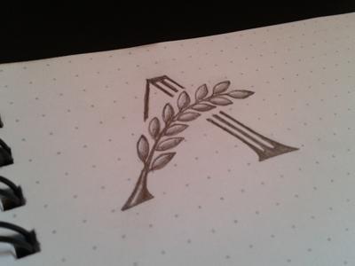 A mark logo symbol mark a leafs sketch