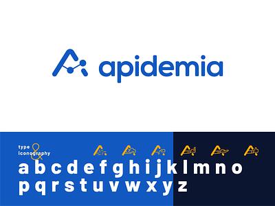 Apidemia mark case study typography icons logo design brand identity logo