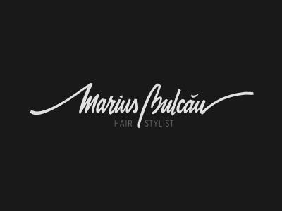 Marius Bulcau - Hair Stylist logo typography type logotype lettering marius marius bulcau hair stylist hair stylist hairdresser haircut