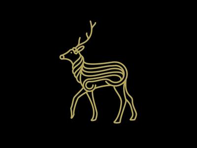 Deer illustration line deer animal simple clean