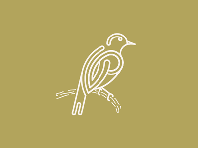 Sparrow illustration line bird sparrow animal simple clean