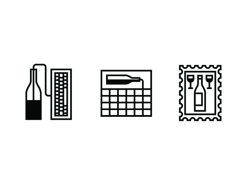Icon Workshop icon wine stamp keyboard calendar