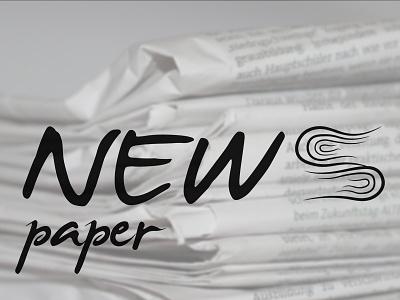 Newspaper Logo illustrator newspaper logodesign logotype logo