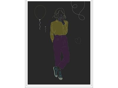 Birthday illustrator birthday girl vector illustration