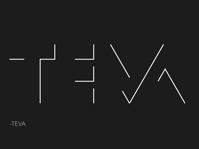 TEVA logo illustrator art logotype logodesign typography design illustration logo