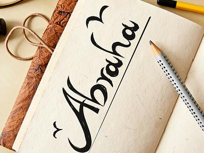 Abraha design typography illustrator branding vector logodesign illustration logotype logo